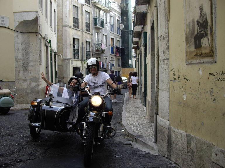 Lisbon sidecar tours fun